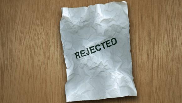 Afgewezen rejected